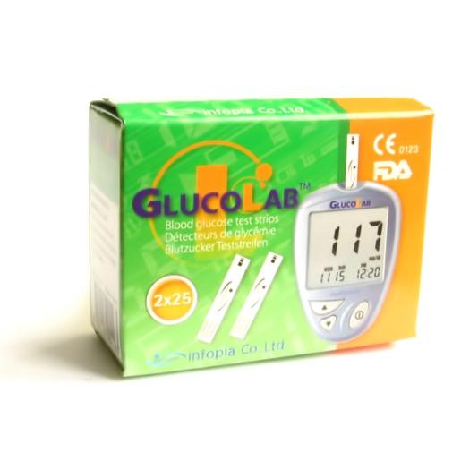 Test.proužky pro glukometr GlucoLab 50ks