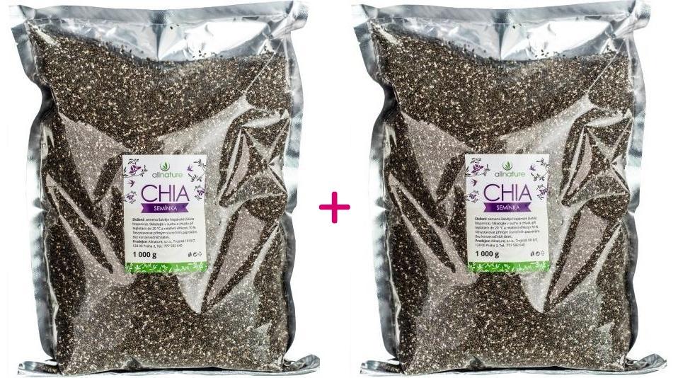 Allnature Chia semínka 1000g 1+1 ZDARMA
