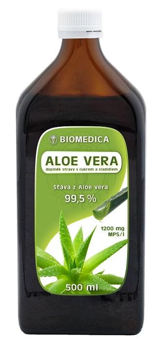 Biomedica Aloe vera přírodní šťáva 99.5% 500ml