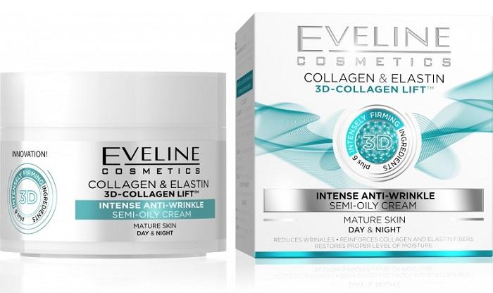 Eveline Cosmetics  Eveline 3D Collagen & Elastin Denní/noční krém 50ml