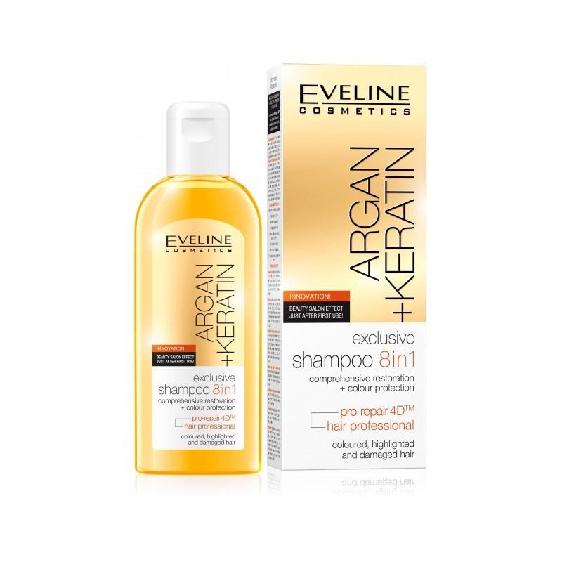 Eveline Argan + Keratin - šampon na vlasy 8v1 150ml