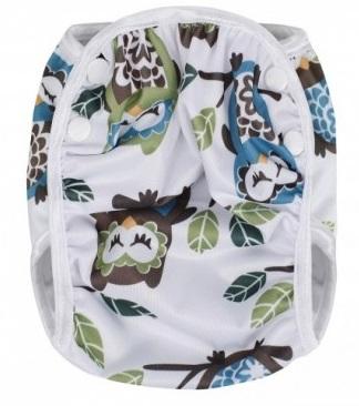 Plenkové plavky, white owl / bílé sovy, velikost M