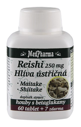 MedPharma Reishi 250mg Hlíva ústřičná 67 tablet
