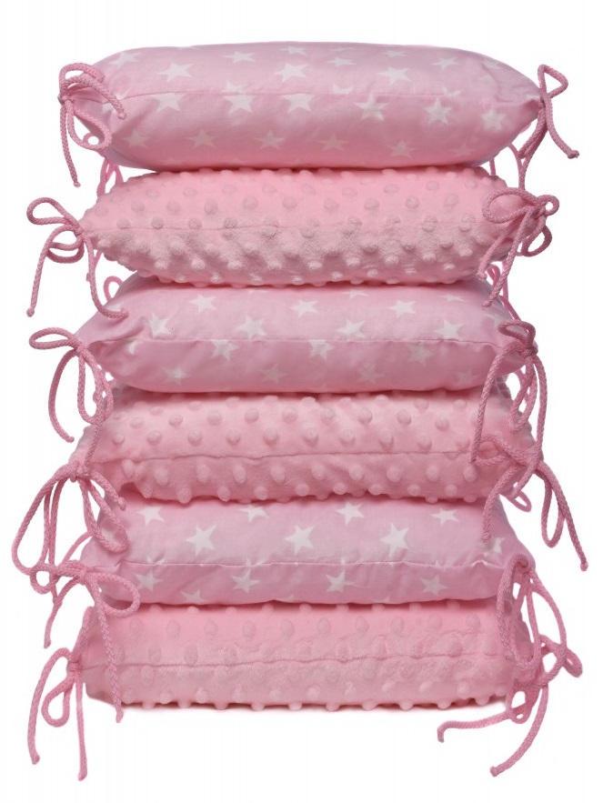 Polštářkový mantinel, pink / stars