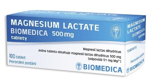 Biomedica Magnesium lactate 500mg 100 tablet