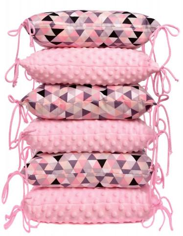 Polštářkový mantinel, pink triangles