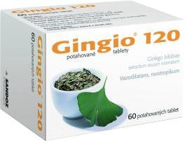 GINGIO® 120 mg potahované tablety, 60 tablet