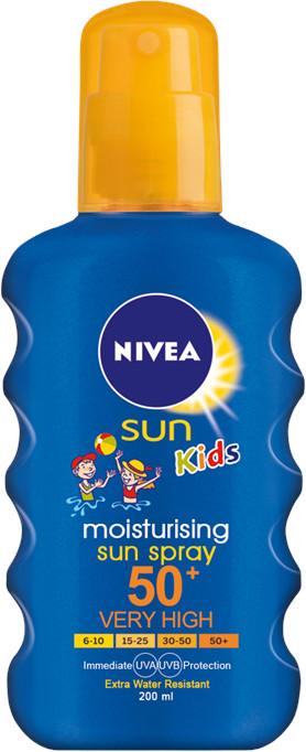 Nivea Dětský barevný sprej na opalování OF 50+ 200ml