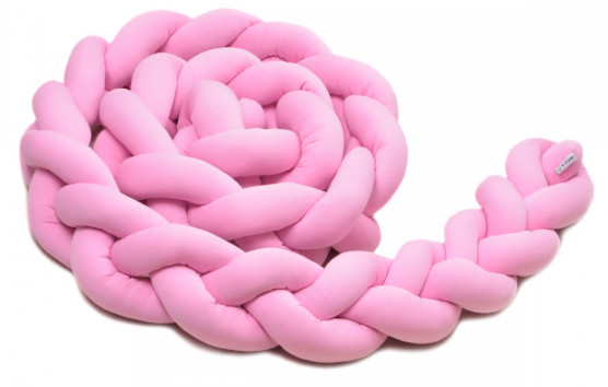 Pletený mantinel 180 cm, pink