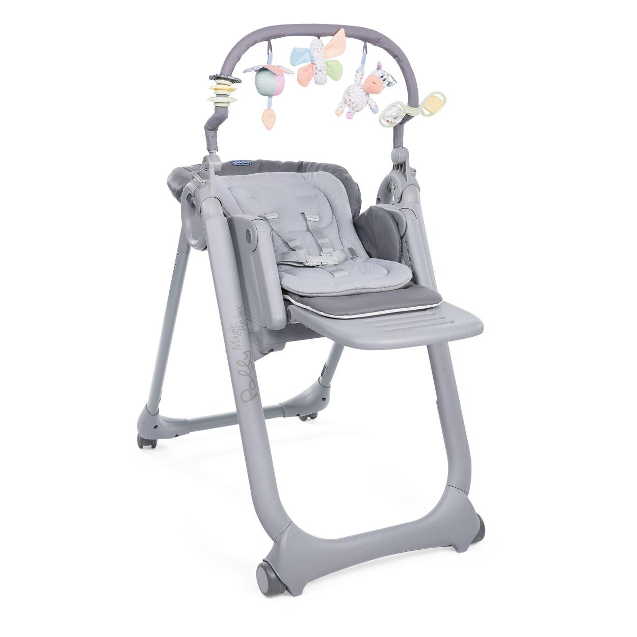 Židlička jídelní Polly Magic Relax - Graphite