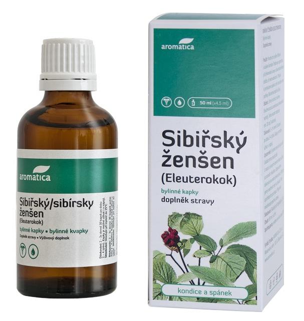 AROMATICA Sibiřský ženšen-Eleuterokok bylinné kapky 50ml