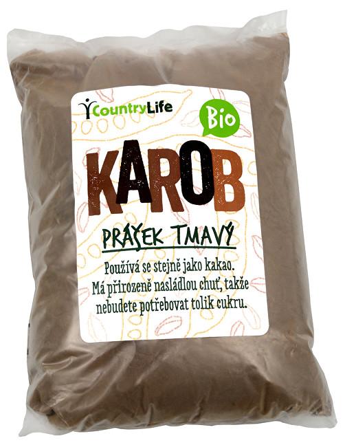 Country Life Karobový prášek tmavý BIO 500g
