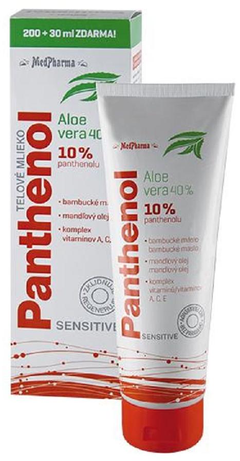 MedPharma Panthenol 10% Sensitive 200ml+30ml ZDARMA