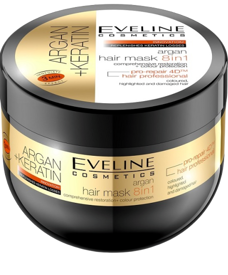 Eveline Argan + Keratin maska na vlasy 8v1 300ml