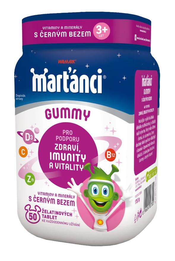 E-shop Walmark Marťánci Gummy Černý bez 20mg 50 tablet