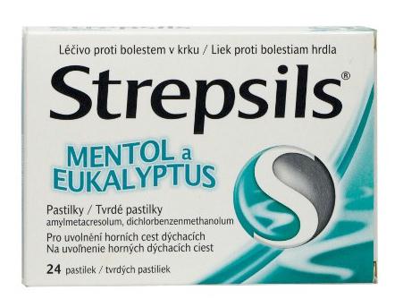 Strepsils Mentol a eukalyptus 0.6mg/1.2mg 24 pastilek
