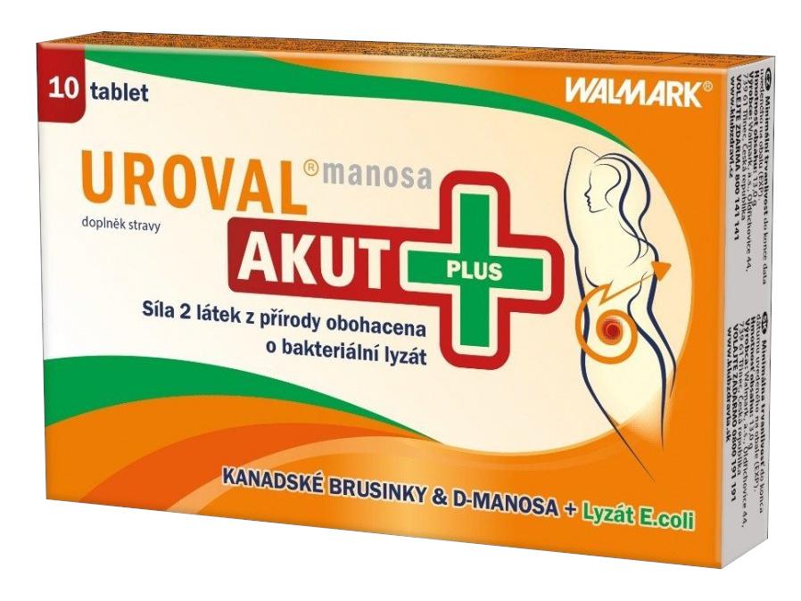 Walmark Uroval MANOSA AKUT Plus 10 tablet