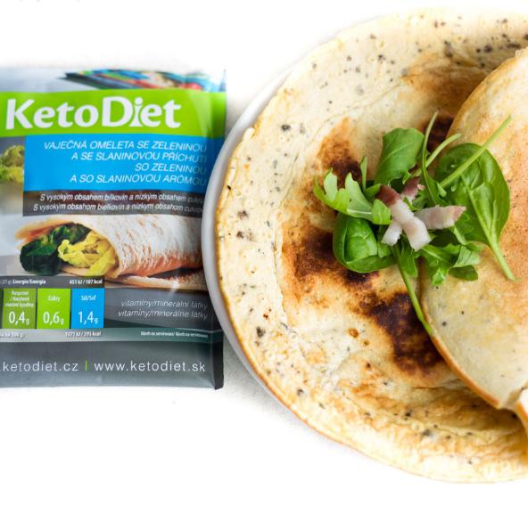 KetoDiet Proteinová omeleta se slaninovou příchutí 7 porcí