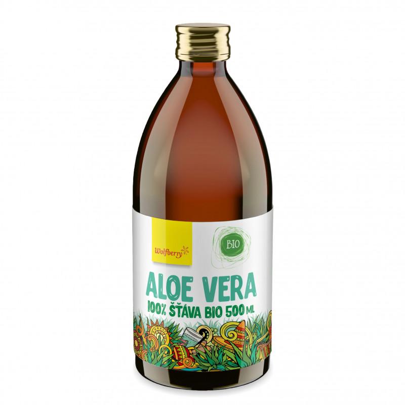 Wolfberry Aloe vera šťáva 100% BIO 500ml