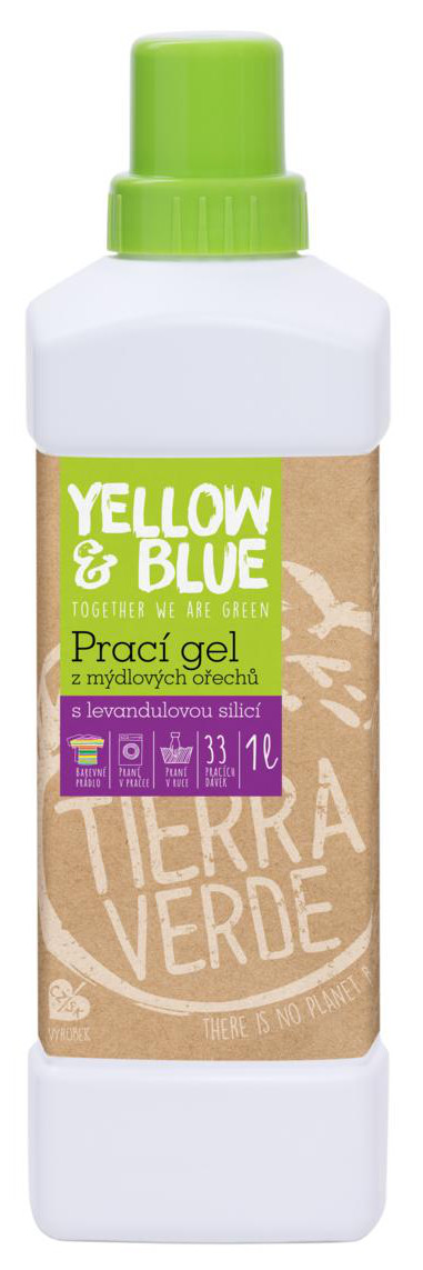 Yellow&Blue Prací gel s levandulí z bio mýdlových ořechů 1l