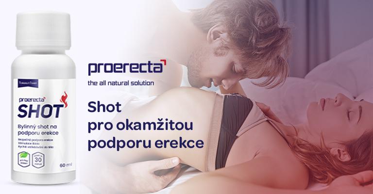 Poerecta, proerecta shot, podpora erekce, účinek za 30 minut, bylinná směs