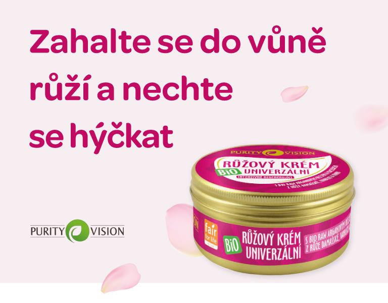 PURITY VISION Bio Růžový krém univerzální