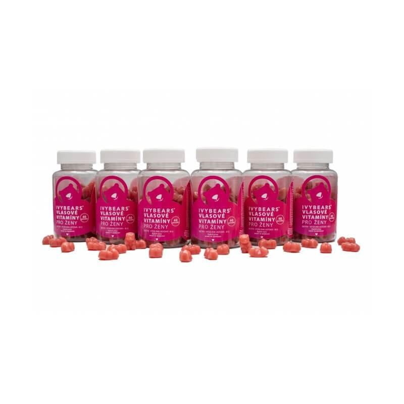IVY Bears vlasové vitamíny pro ženy 6x60 ks