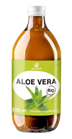 Allnature Aloe Vera BIO 100% šťáva 500ml