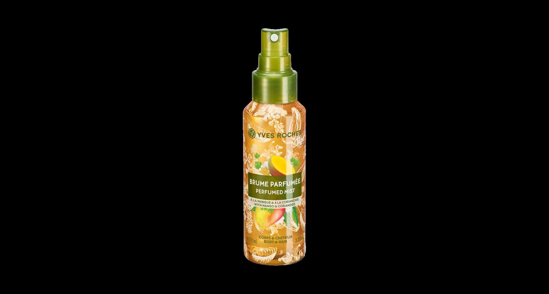 Yves Rocher Parfemovaný sprej na tělo a vlasy Mango & koriandr 100ml