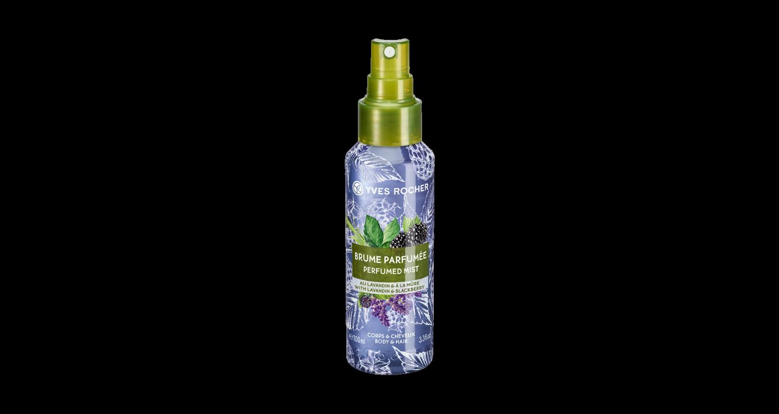 Yves Rocher Parfémovaný sprej na tělo a vlasy Levandule & ostružina 100ml