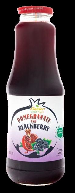 Georgian Nectar 100% ovocná šťáva Granátové jablko & Ostružina 1000ml