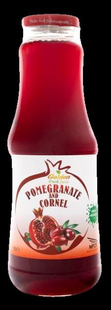 Georgian Nectar 100% ovocná šťáva Granátové jablko & Dřín 1000ml