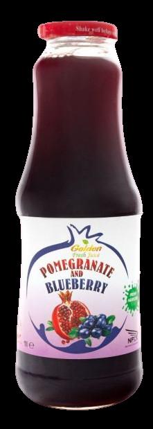 Georgian Nectar 100% ovocná šťáva Granátové jablko & Borůvka 1000ml