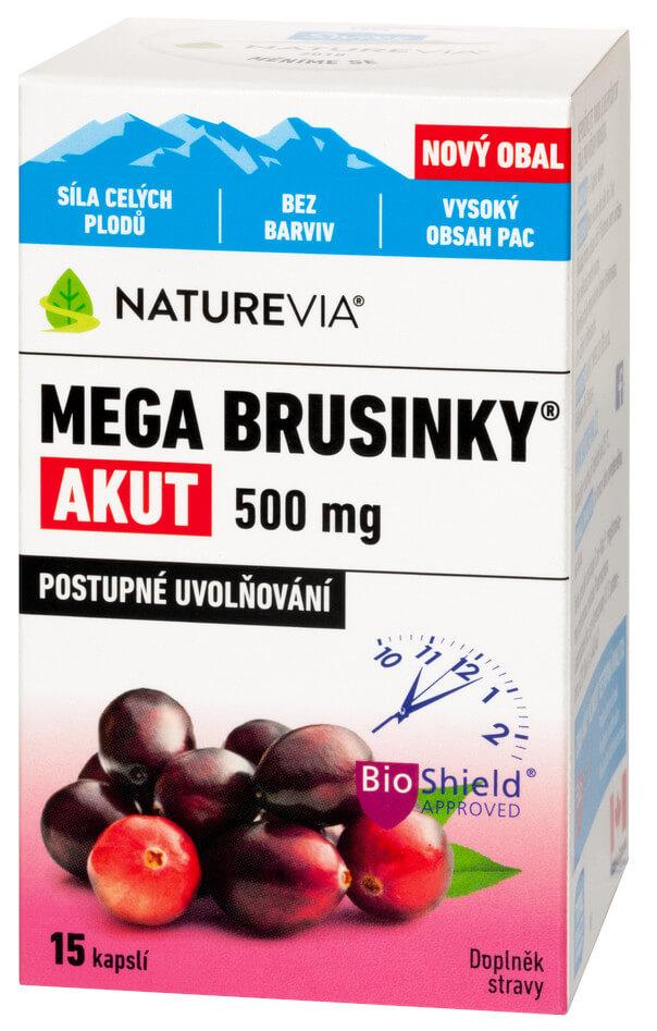 NatureVia Mega brusinky Akut 15cps