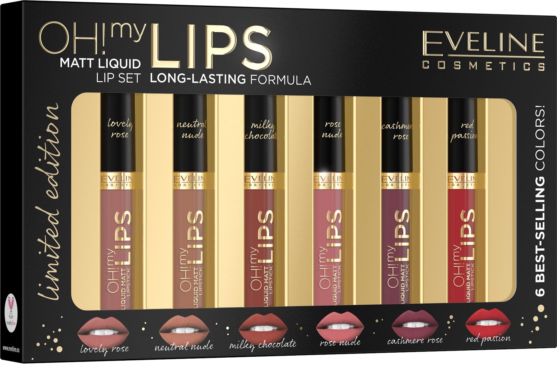 Eveline Cosmetics  Eveline Dárkový set Oh! My lips - set mini rtěnek 1,5ml
