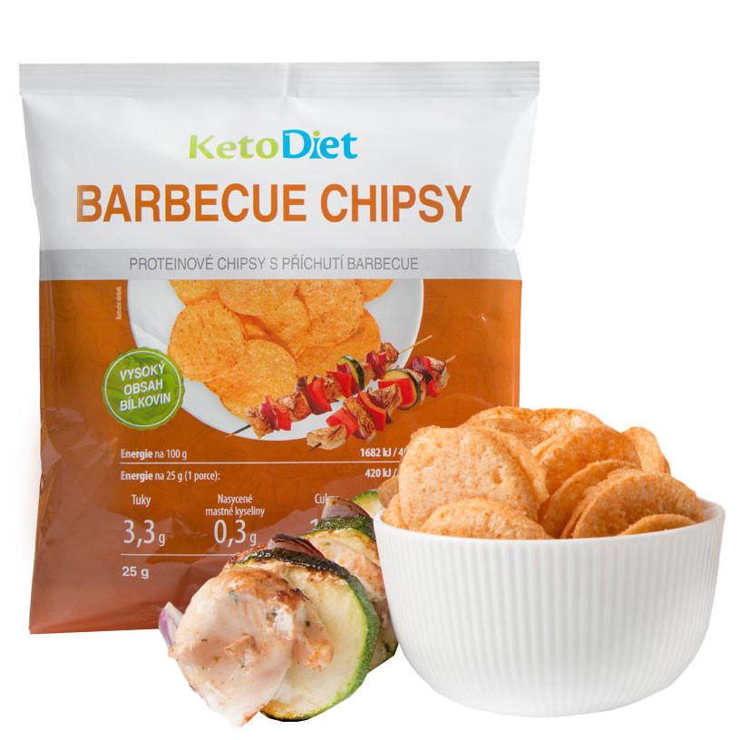 KetoDiet Proteinové chipsy s příchutí barbecue 25g /1 porce