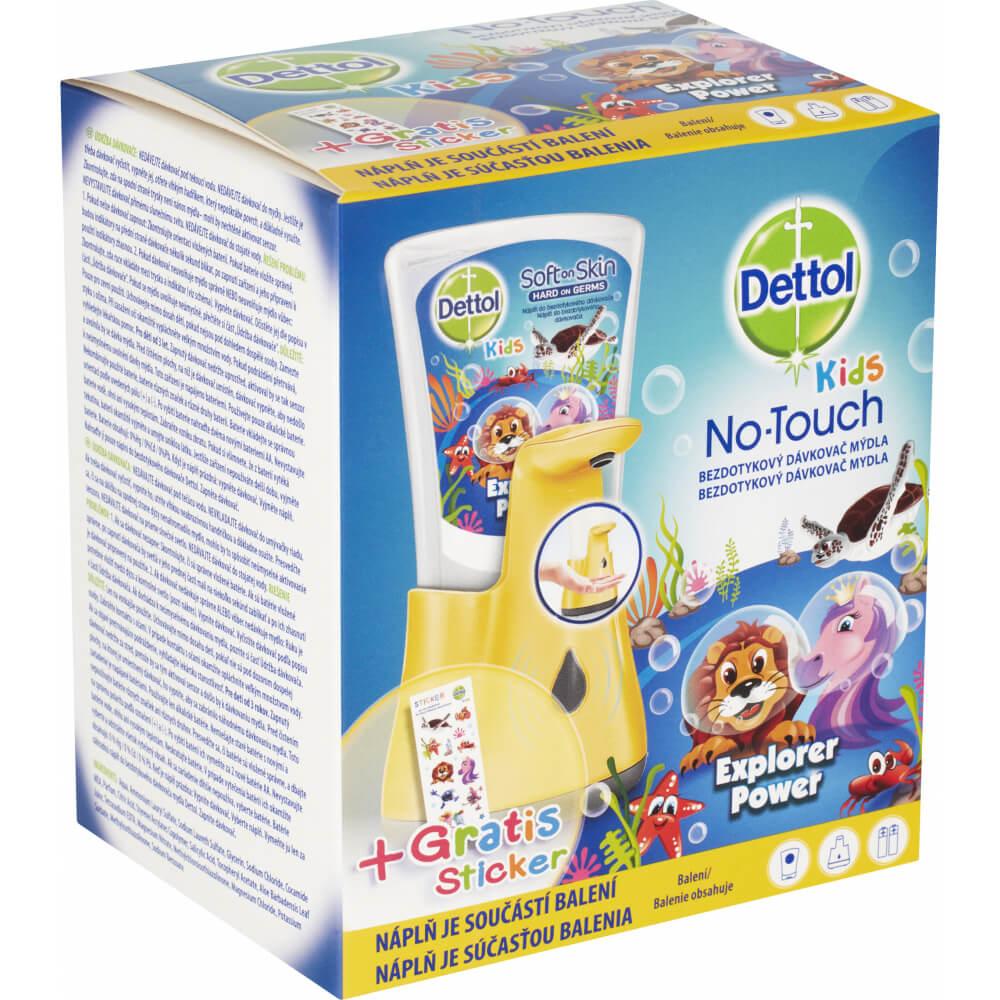Bezdotykový dávkovač mýdla pro děti + náplň 250ml