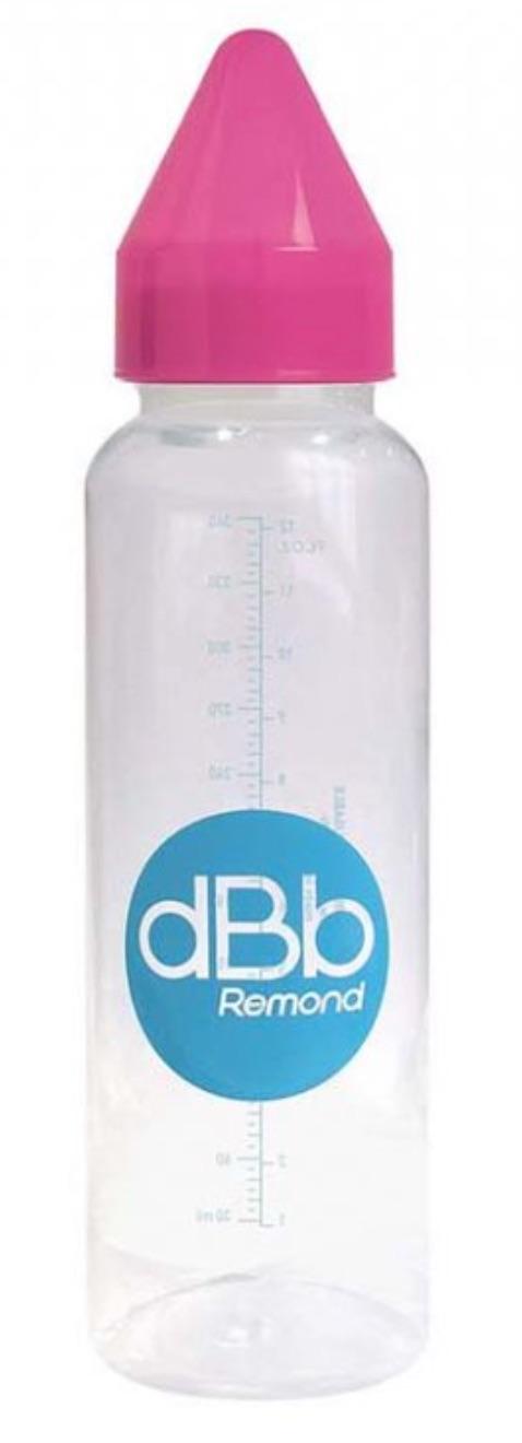 dBb dětská lahvička PP, savička 4+, silikon, Pink 360ml