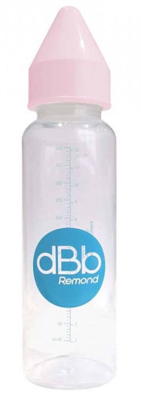 dBb dětská lahvička PP, savička 4+měs. Kaučuk, Pink 360ml