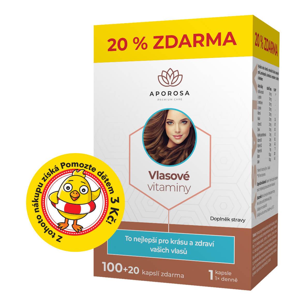 APOROSA premium Vlasové vitaminy 120 kapslí