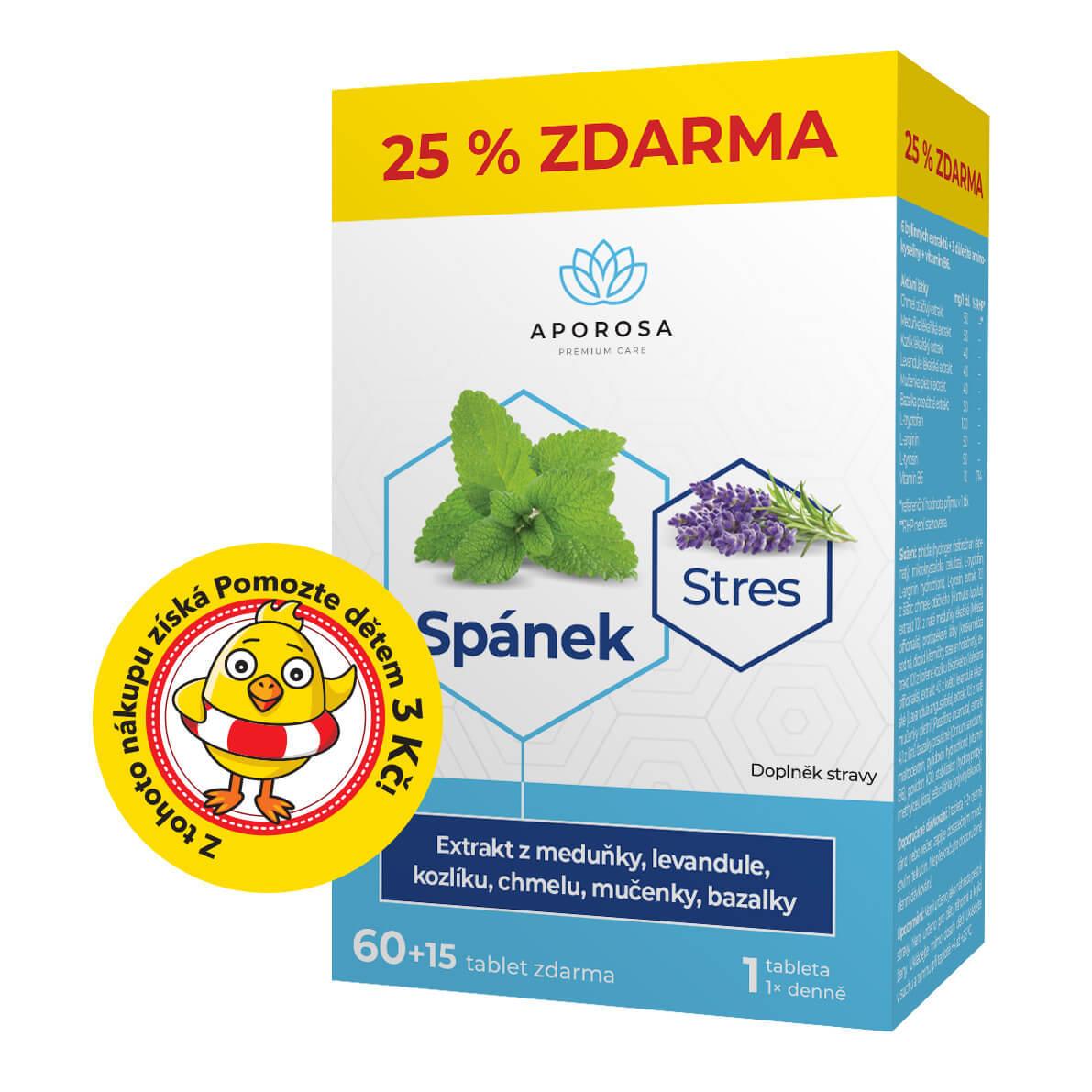 APOROSA premium Spánek a Stres Meduňka + Kozlík 75 tablet
