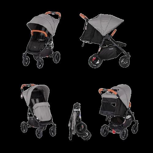 Valco Baby Kočárek sportovní Snap 4 Flat Matte LTD Edition Fauna s prvky z ekokůže Caramel