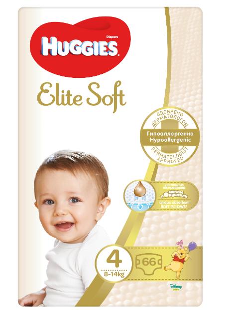 Huggies Elite Soft 4 Pleny 66ks