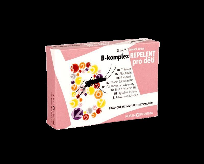 Rosen B-komplex Repelent pro děti 25 dražé