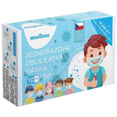 MESAVERDE  Jednorázová rouška 3-vrstvá pro děti 10ks
