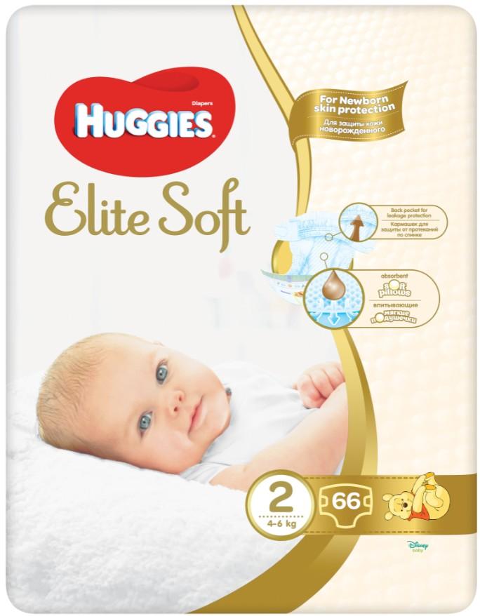 HUGGIES® Elite Soft 2 4-6kg 66ks