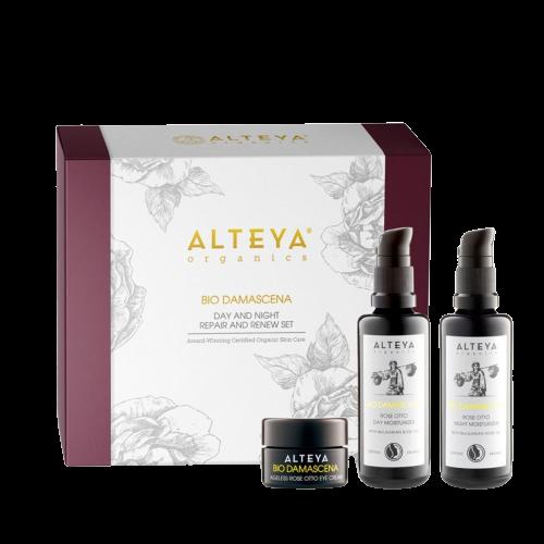 Alteya Organics  Alteya Dárkový set luxusní regenerační a obnovující péče o pleť BIO