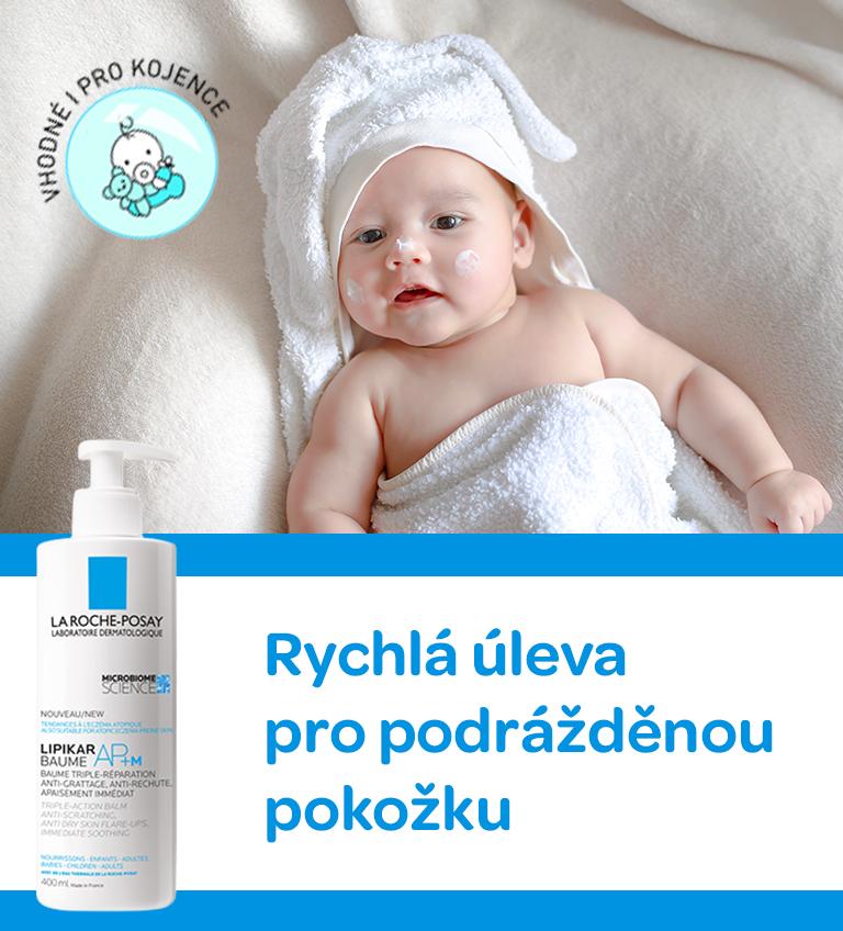 La roche posay, LA ROCHE-POSAY Lipikar Baume, pro podrážděnou a citlovou pokožku, snižuje svědění, vhodné i pro kojence, hloubkové hydratuje