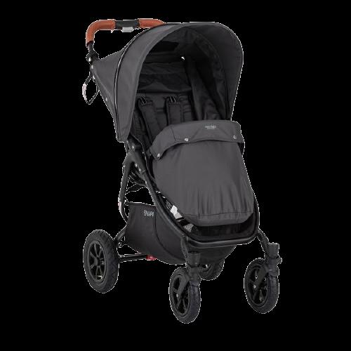 Valco Baby Sportovní kočárek Snap 4 Sport Flat Matte LTD Edition Signature Grey s prvky z ekokůže Caramel