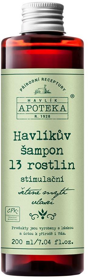 Organická kosmetika z Havlíkovy apotéky  Organická apotéka Havlíkův šampon 13 rostlin 200ml